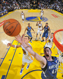 Minnesota Timberwolves v Golden State Warriors: Kevin Love and Andris Biedrins