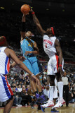 New Orleans Hornets v Detroit Pistons: Ben Wallace and David West