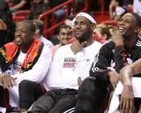 Phoenix Suns v Miami Heat: Dwyane Wade  LeBron James and Chris Bosh