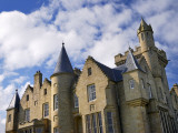 Exterior View of the Turrets at Balfour Castle