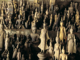 Buddhas and Other Figures in a Pak Ou Cave