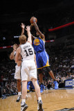 Golden State Warriors v San Antonio Spurs: Dorell Wright  Matt Bonner and Richard Jefferson