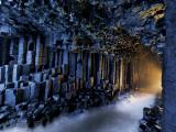 Basalt pillars line Fingal's Cave