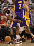 Los Angeles Lakers v Los Angeles Clippers: Baron Davis and Lamar Odom