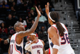 New Jersey Nets v Atlanta Hawks: Jamal Crawford and Etan Thomas