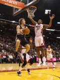 Indiana Pacers v Miami Heat: Mike Dunleavy and Jamaal Magloire