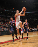 Atlanta Hawks v Toronto Raptors: Andrea Barngani and Josh Smith