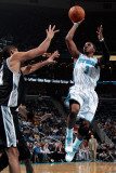 San Antonio Spurs v New Orleans Hornets: Chris Paul and Tim Duncan