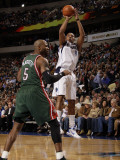 Milwaukee Bucks v Dallas Mavericks: Caron Butler and Corey Maggette