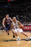 Atlanta Hawks v San Antonio Spurs: Tony Parker and Mike Bibby