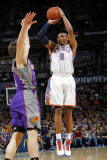Phoenix Suns v Oklahoma City Thunder: Russell Westbrook and Goran Dragic