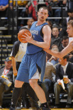 Minnesota Timberwolves v Golden State Warriors: Kevin Love and David Lee