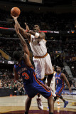 New York Knicks v Cleveland Cavaliers: Antawn Jamison and Shawne Williams