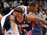 Atlanta Hawks v Orlando Magic: Josh Smith and Dwight Howard
