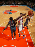 Charlotte Bobcats v New York Knicks: Danilo Gallinari and Kwame Brown