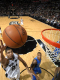 Dallas Mavericks v San Antonio Spurs: Tim Duncan and Caron Butler