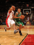 Boston Celtics v Toronto Raptors: Delonte West and Leandro Barbosa