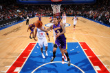 Los Angeles Lakers v Philadelphia 76ers: Matt Barnes and Thaddeus Young