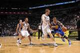Golden State Warriors v San Antonio Spurs: Monta Ellis and Matt Bonner