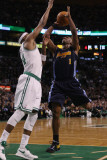 Denver Nuggets v Boston Celtics: Chauncey Billups and Paul Pierce