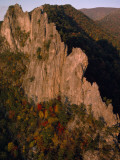 Sunlight Strikes a Sheer Cliff in the Fall