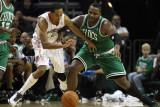 Boston Celtics v Charlotte Bobcats: Glen Davis and Shaun Livingston