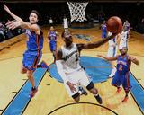 New York Knicks v Washington Wizards: John Wall  Danilo Gallinari and Raymond Felton