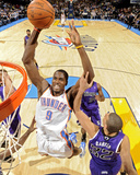 Sacramento Kings v Oklahoma City Thunder: Serge Ibaka and Francisco Garcia
