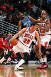 Minnesota Timberwolves v Chicago Bulls: Kyle Korver  Corey Brewer and Taj Gibson