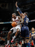 Indiana Pacers v Atlanta Hawks: Jamal Crawford and Roy Hibbert