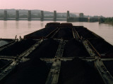 Men on a Coal Barge on the Ohio River