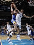 Golden State Warriors v Dallas Mavericks: David Lee and Dirk Nowitzki