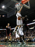 Miami Heat v Milwaukee Bucks: Dwyane Wade  Zydrunas Ilgauskas and Andrew Bogut