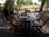 A Laptop Computer on a Table in Okavango&#39;s Chitabe Camp