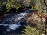 Small Waterfall in a Wooded Setting