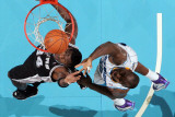 San Antonio Spurs v New Orleans Hornets: Antonio McDyess and Emeka Okafor