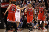 Chicago Bulls v Phoenix Suns: Derrick Rose and Kyle Korver