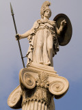 A Statue of Athena on a Column Outside the Academy of Athens