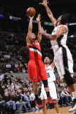 Portland Trail Blazers v San Antonio Spurs: Brandon Roy and Tim Duncan