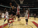 Chicago Bulls v Toronto Raptors: Ed Davis  Carlos Boozer  DeMar DeRozan  Amir Johnson and Julian Wr