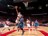 Orlando Magic v Portland Trail Blazers: Mickael Pietrus and Nicolas Batum