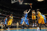 Oklahoma City Thunder v New Orleans Hornets: David West and Nick Collison