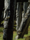 Haidi Mortuary Poles at Sgan Gwaii Village Held Remains of Respected Leaders
