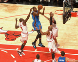 Oklahoma City Thunder v Chicago Bulls: Kevin Durant  Luol Deng  Taj Gibson and Carlos Boozer