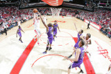 Sacramento Kings v Houston Rockets: Chase Budinger and Carl Landry