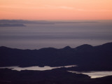 The Channel Islands and Lake Casitas at Sunset