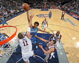 Washington Wizards v New Jersey Nets: Nick Young and Brook Lopez