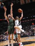 Milwaukee Bucks v San Antonio Spurs: Manu Ginobili and Andrew Bogut