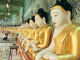 Buddha Statues at the Onhmin Thonze Pagoda