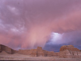 Lightning Storm over Tohachi Canyon  in the Painted Desert